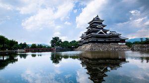 Превью обои япония, здание, красиво, небо
