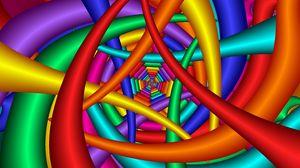 Превью обои яркий, разноцветный, фон, линии