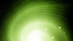 Превью обои яркий, свет, воронка, вращение, зеленый
