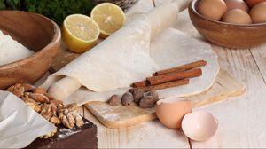 Превью обои яйца, тесто, мука, лимон