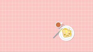 Превью обои завтрак, бутерброд, чашка, еда