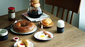 Превью обои завтрак, яичница, кофе, десерт