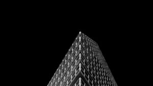 Превью обои здание, архитектура, минимализм, черно-белый, черный