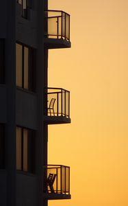Превью обои здание, архитектура, силуэты, минимализм