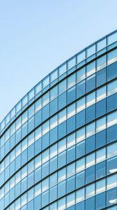 Превью обои здание, архитектура, стекло, синий, минимализм