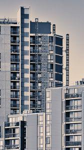 Превью обои здание, архитектура, стройка, серый