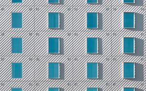 Превью обои здание, окна, фасад, архитектура, минимализм