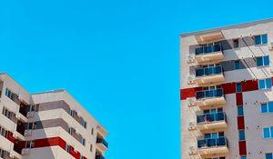 Превью обои здания, архитектура, минимализм, небо, синий