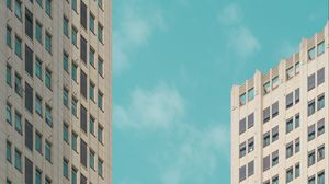 Превью обои здания, архитектура, небо, минимализм