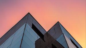 Превью обои здания, архитектура, стекло, вид снизу, минимализм