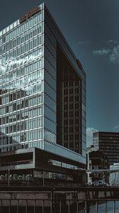 Превью обои здания, архитектура, стекло, небо