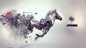 Превью обои зебра, сюрреализм, вдохновение