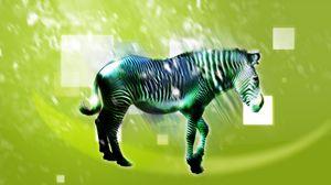 Превью обои зебра, животное, свет, рисунок, светлый