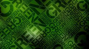 Превью обои зеленый, черный, надпись, стена, буквы