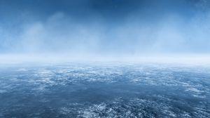 Превью обои земля, атмосфера, вид сверху, облака, космос