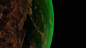 Превью обои земля, планета, космос, атмосфера, вселенная