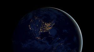 Превью обои земля, планета, космос, шар