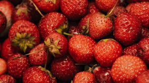 Превью обои земляника, ягода, фрукты, макро, close