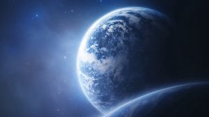 Превью обои земля, планета, орбита, снимок