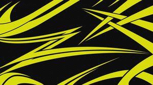 Превью обои желтый, черный, линии, острые