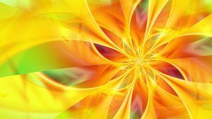 Превью обои желтый, цветок, кисть, яркий