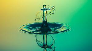 Превью обои жидкость, брызги, отражение