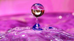 Превью обои жидкость, капля, форма, свет, цвет