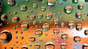 Превью обои жидкость, пузыри, макро, текстура