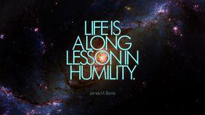 Превью обои жизнь, надпись, цитата, фраза, смирение, галактика, космос