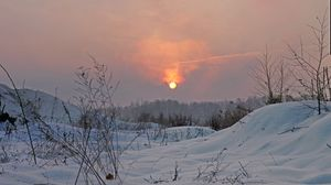 Превью обои зима, свет, солнце, небо