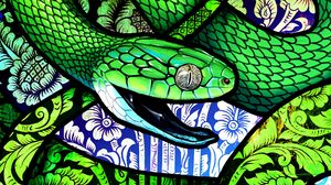 Превью обои змея, чешуя, узор, орнамент, арт