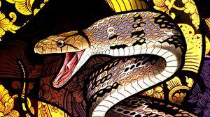 Превью обои змея, узоры, чешуя, арт