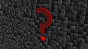 Превью обои знак, вопрос, пунктуация, стена, форма, металл