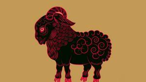 Превью обои знак зодиака, коза, арт, минимализм