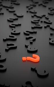 Превью обои знаки вопроса, фигурки, 3d