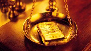 Превью обои золото, слиток, весы