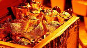 Превью обои золото, сундук, драгоценный