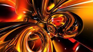 Превью обои золото, свет, линии, яркий, блеск