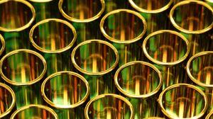 Превью обои золото, трубы, круги, формы