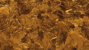 Превью обои золото, жидкость, текстура