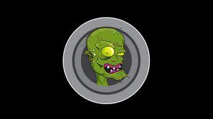 Превью обои зомби, арт, вектор