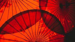 Превью обои зонт, красный, круглый