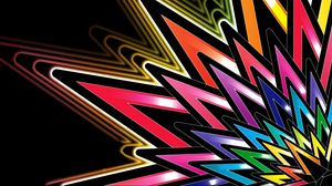 Превью обои звезда, форма, красочный, линии, узоры