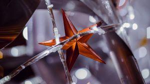 Превью обои звезда, гирлянда, украшение, новый год, рождество