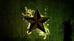 Превью обои звезда, темный, узор