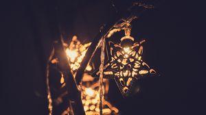 Превью обои звезда, украшение, декорация, свет, гирлянда