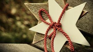 Превью обои звезда, веревка, рождество