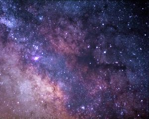 Превью обои звездное небо, млечный путь, звезды, блеск, космос