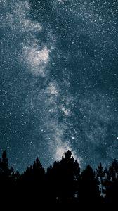 Превью обои звездное небо, млечный путь, звезды, ночь