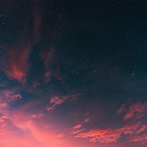 Превью обои звездное небо, облака, закат